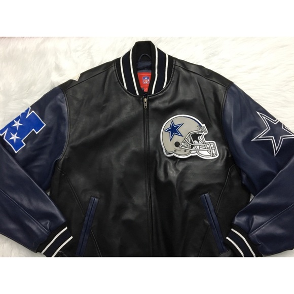 86d1da0a1dad G-III Other - NFL Dallas Cowboys Faux Leather Jacket Black Navy